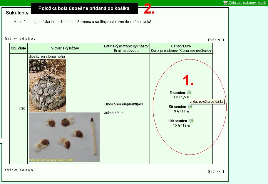 d7940a815 Ako si objednať zo Slovenska - predaj semien a rastlín - KPR - Klub  pestovateľov rastlín